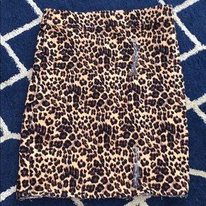 Shein cheetah leopard frayed mini skirt!
